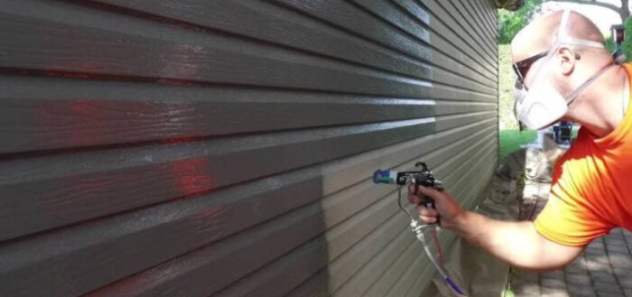Как покрасить виниловый сайдинг