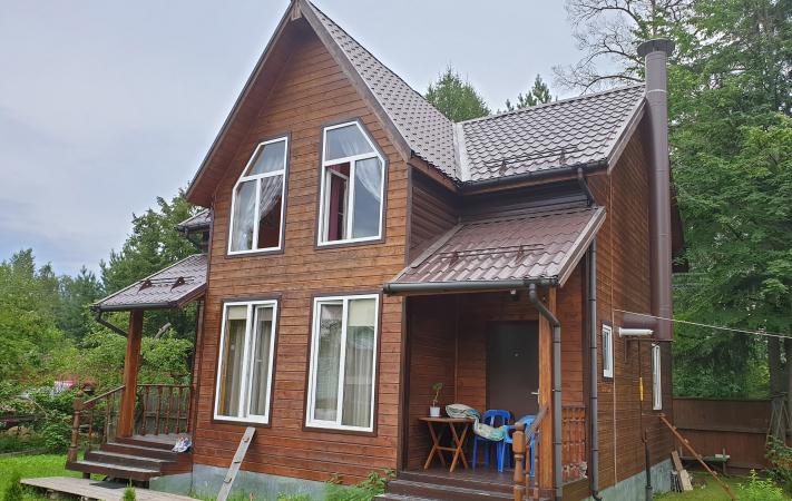 Дом до отделки фасадными панелями