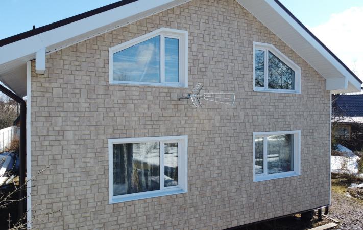 Дом после отделки фасадными панелями  Я Фасад GL