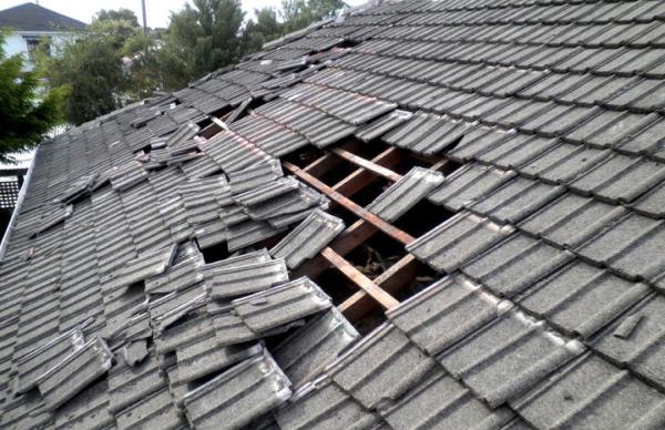 Крыша с большими просветами