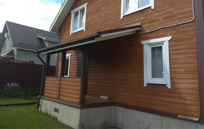 Дом до комбинированной отделки